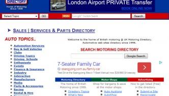 UK Motoring Directory